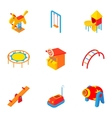 Children entertainment icons set cartoon style vector image vector image