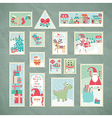 Christmas postage stamps vector | Price: 3 Credits (USD $3)