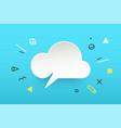 cloud banner speech bubble vector image vector image