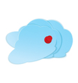 Clouds with pushpin vector image vector image