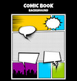 color comics book cover vertical backdrop vector image vector image