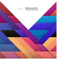 Color Geometric Shapes Abstract geometric colorful vector image vector image