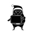cute santa claus with label kawaii character vector image