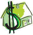 drawn green house vector image vector image