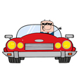 Driving Caucasian Businessman vector image vector image