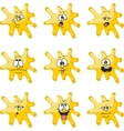 Emotion smiles cartoon yellow blot color set 006 vector image