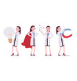 female scientist and giant things vector image vector image