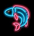 fish neon glow icon vector image vector image