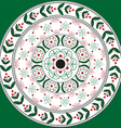 Floral ornament mandala in Slavic style vector image vector image