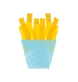 french fries potato isolated icon vector image vector image