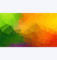 fresh color flat triangle backround vector image vector image