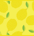 funny lemons hand drawn yellow background vector image vector image