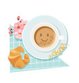 good morning breakfast with coffee cup vector image