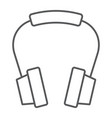 headphones thin line icon earphone and music vector image vector image