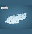 isometric 3d czech republic map concept vector image vector image
