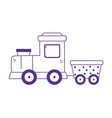 kids toys train wagon icon design white background vector image