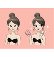 lady make up beauty vector image