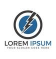 lightning logo design vector image vector image