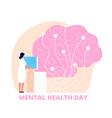 mental health day healthcare medical psychology vector image