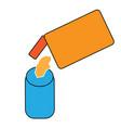 milk powder simple icon design vector image vector image