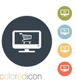monitor with symbol shopping cart vector image vector image
