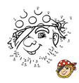 numbers game for children pirate vector image vector image