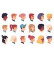 people portraits men women multiracial profile vector image vector image