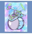 Poster with wind instruments vector image