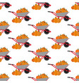 pumpkin harvest pattern vector image vector image