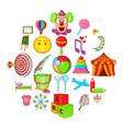 schoolchildren icons set cartoon style vector image vector image