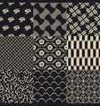 seamless japanese traditional mesh pattern vector image vector image