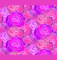 seamless neon texture with roses the day of the vector image