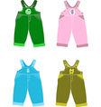 Set of overalls vector image