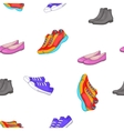 Shoes for man and woman pattern cartoon style vector image
