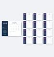simple calendar 2019 yesr stock design vector image