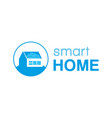 smart home logo vector image