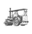steam powered roller vector image vector image