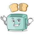 successful toaster character cartoon style vector image vector image