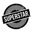 Superstar rubber stamp vector image