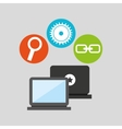technology social media concept vector image vector image