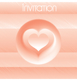 template for your own design of invitation vector image vector image