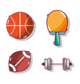 tools set of different sports games vector image vector image