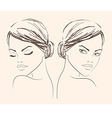 Two portraits of a girl for fashion salon banner vector image