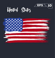 united states flag brush strokes painted vector image vector image