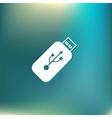 usb flash icon disk vector image vector image