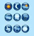 weather icons on blue vector image