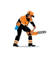 Woodcutter with chainsaw Cartoon vector image vector image