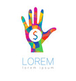 donation sign icon donate money hand charity or vector image