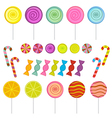 set of isolated candies vector image