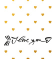 i love you arrow lettering vector image